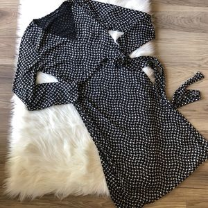 The Limited Black and White Wrap Dress Size Med